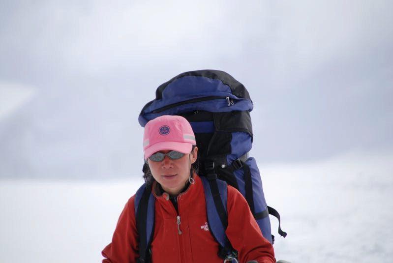 王雷在南极文森峰。(图片由本人提供)