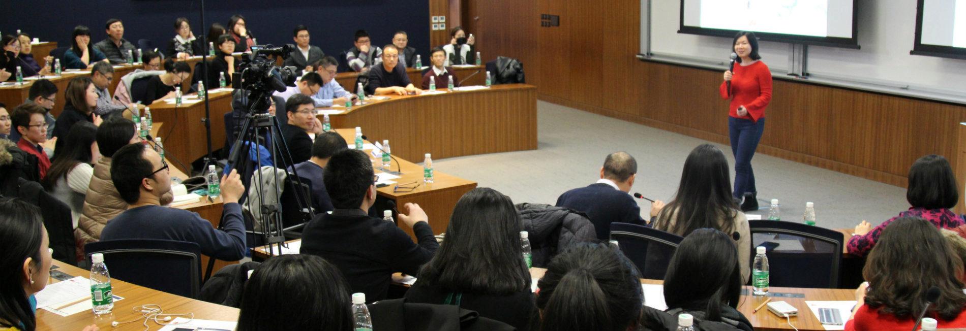 Lei Wang speaking at PWCC