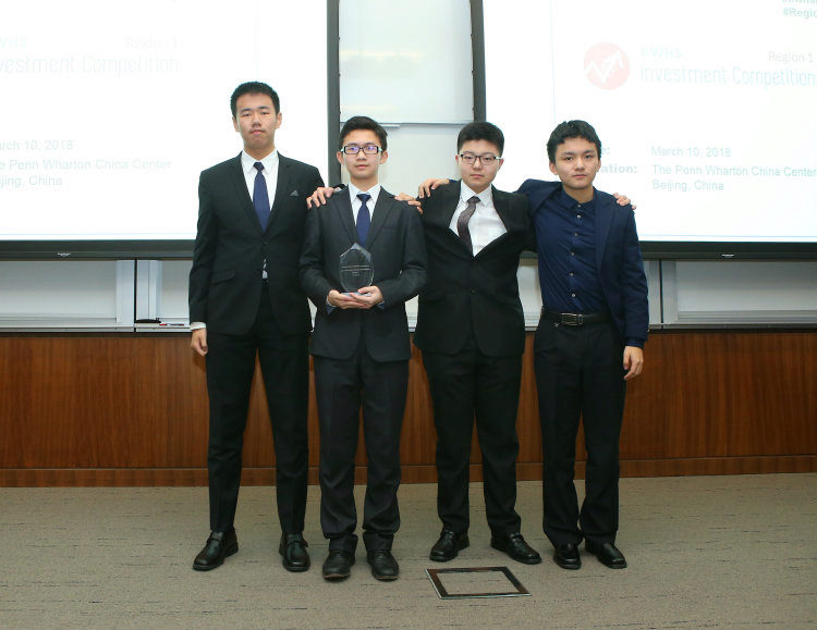 KWHS Region 1 First Place Winner RDFZ ICC from Beijing RDFZ, The High School Affiliated to the Renmin University of China